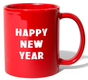 Tasse bedruckt mit Happy New Year